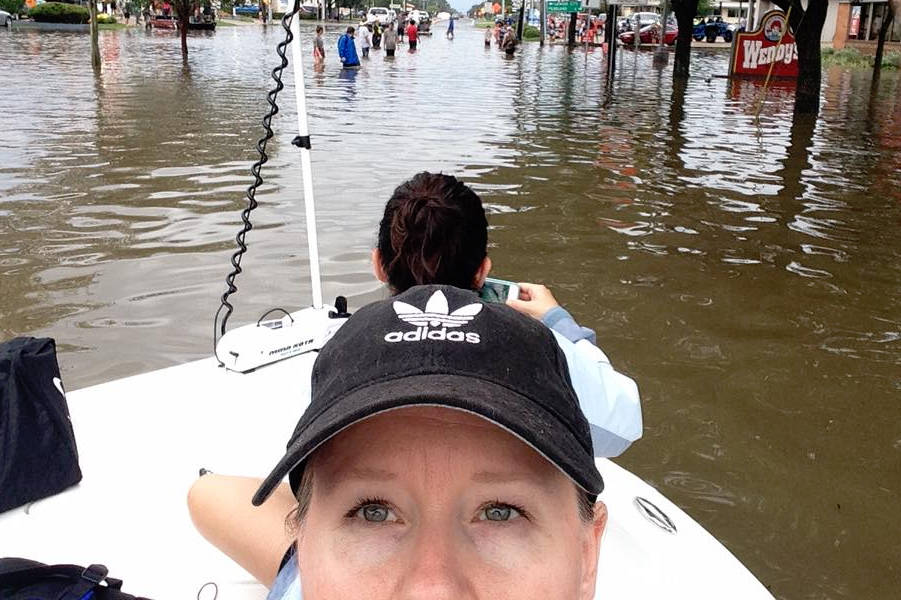 Vernon's Melissa Overend shares photos from Hurricane Harvey. Image credit: Facebook