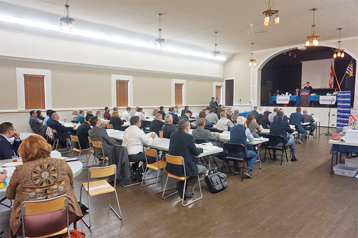 About 80 delegates attended the 2017 annual general meeting of the B.C. Conservative Party in Langley. Supplied