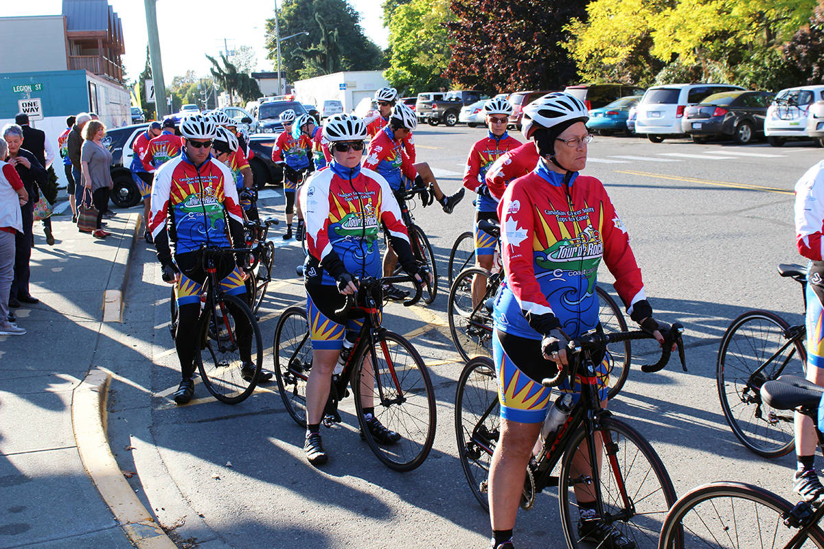 Tour de Rock rolls out of Chemainus with a wealth of donations