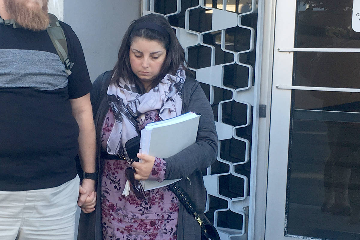 Kaela Mehl was convicted of first degree murder in the death of her 18-month-old daughter Charlotte Cunningham who died in September 2015. (Lauren Boothby/VICTORIA NEWS)