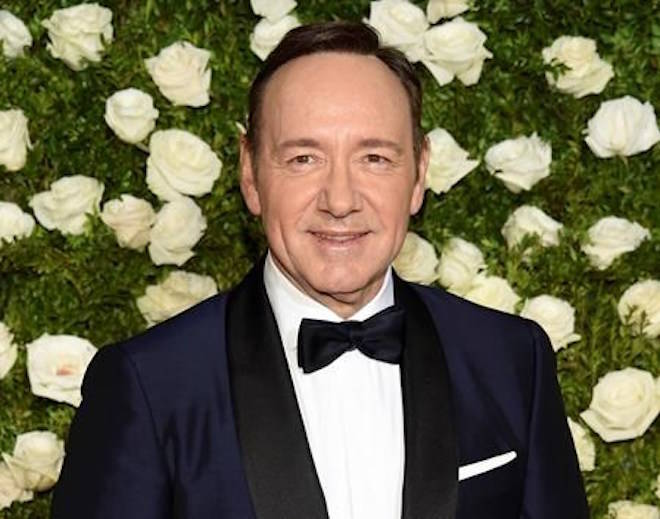 FILE - In this June 11, 2017 file photo, Kevin Spacey arrives at the 71st annual Tony Awards at Radio City Music Hall in New York. (Photo by Evan Agostini/Invision/AP, File)