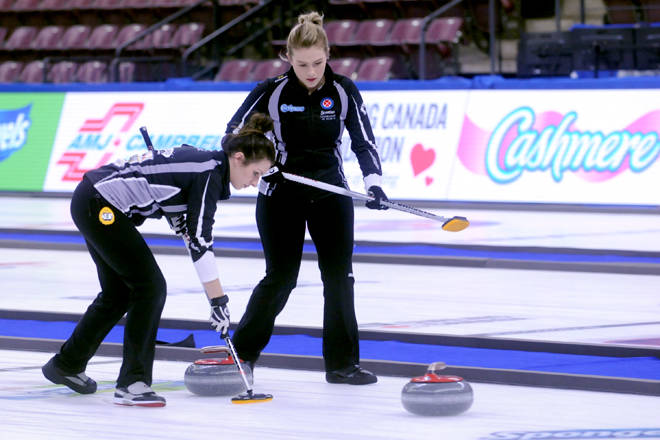 The team skipped by Kerri Einarson (Manitoba) won the WIld Card berth into the 2018 Scotties Tournament of Hearts on Friday defeating Chelsea Carey's team from Calgary 7-4 in Penticton at the South Okanagan Events Centre. Kristi Patton/Western News
