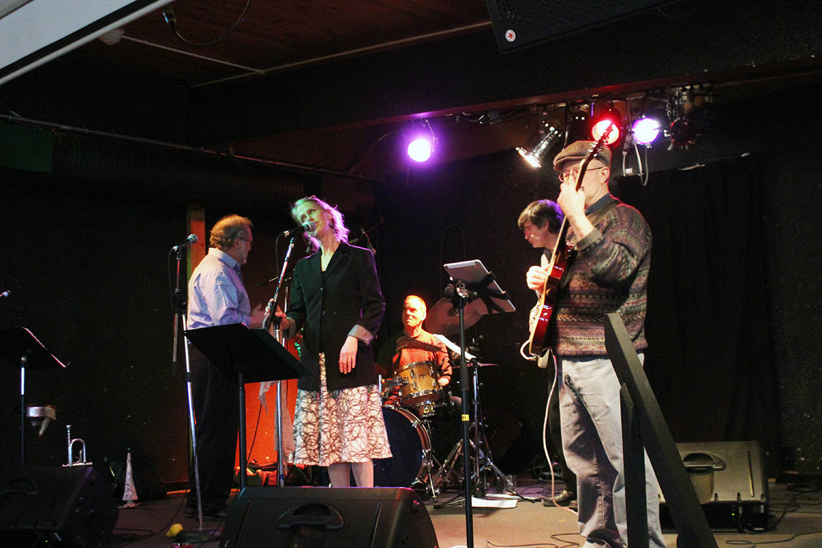 Lead singer Sue Newman and Salt Spring musicians perform at Pat's House of Jazz series show in Crofton Jan. 28.