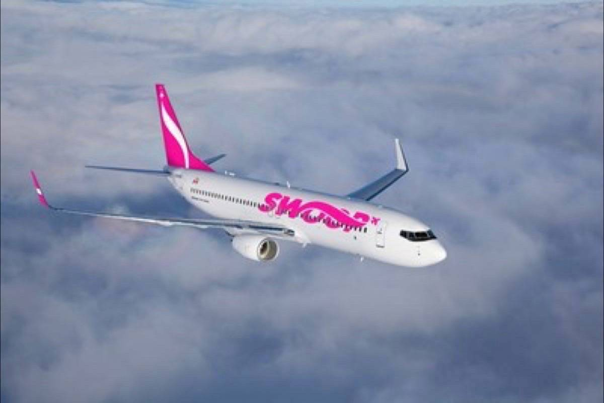 WestJet's ultra low-cost carrier Swoop began selling tickets Thursday through their website.