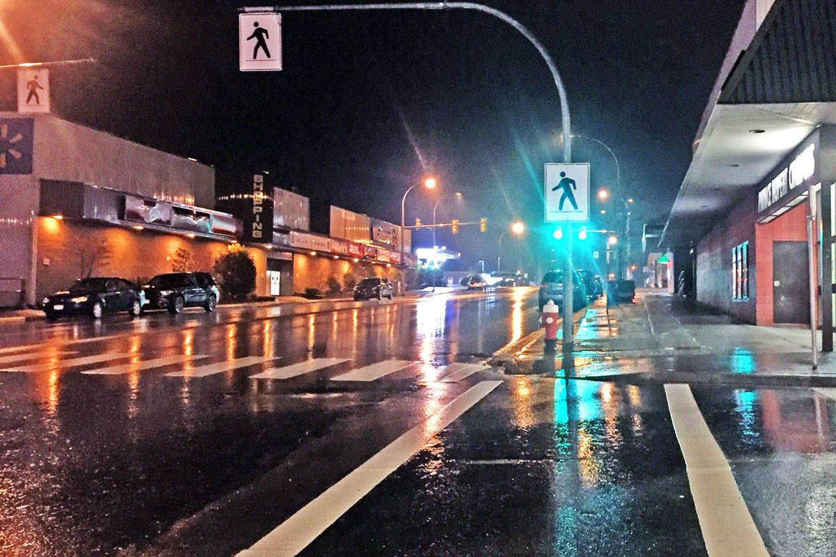 Second Avenue West has seen eight vehicle and pedestrian collisions since early 2017. (Shannon Lough / The Northern View)