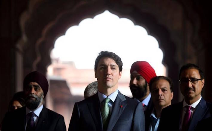 Prime Minister Justin Trudeau visits the Jama Masjid Mosque in New Delhi, India on Thursday, Feb. 22, 2018. India's Ministry of External Affairs issued a statement Wednesday stating the Indian government had no role in an attempted murderer being invited to a pair of events Prime Minister Justin Trudeau attended during his visit to India last week. THE CANADIAN PRESS/Sean Kilpatrick