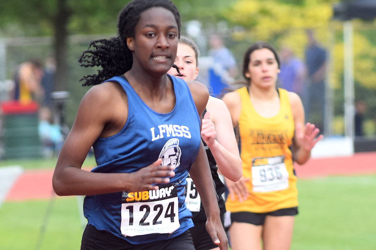 Several Langley athletes medaled earlier this month in the Fraser Valley championships in Abbotsford, some earning a spot at this weekend's provincials. (Black Press files)