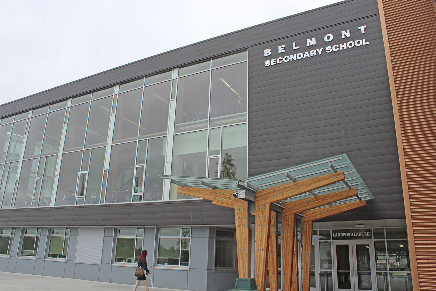 A Belmont Secondary school student has died of a suspected drug overdose, said the Sooke School District. (Kendra Wong/News Gazette staff)