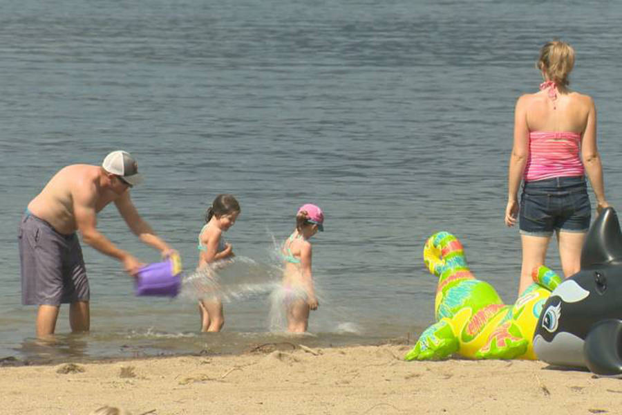 Beaches along Okanagan Lake offer some respite from the current summer heat wave. Photo: Contributed