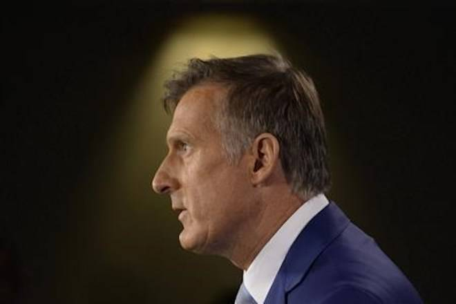 Maxime Bernier announces he will leave the Conservative party during a news conference in Ottawa on August 23, 2018. THE CANADIAN PRESS/Adrian Wyld