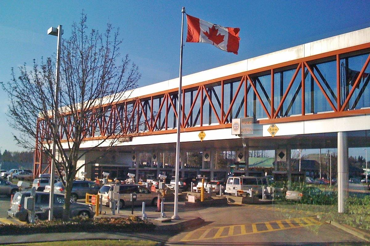 Pacific Highway border crossing. (Wikimedia Commons image)