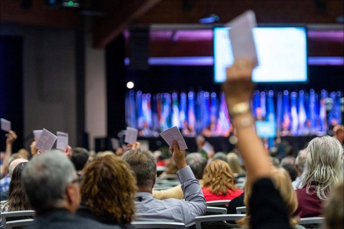 Delegates vote on resolutions at the Union of B.C. Municipalities convention. (UBCM)