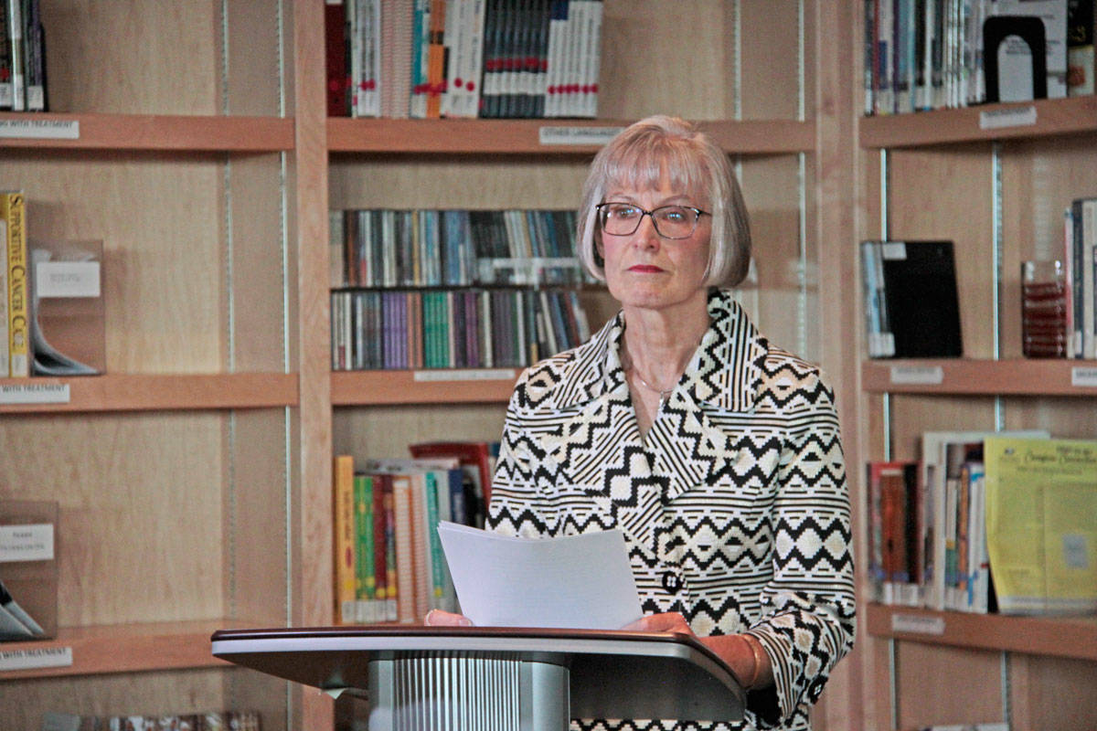 Patricia Pitts donated $250,000 to BC Cancer for ovarian cancer research after two close friends died in the last year. (Keili Bartlett / News staff)