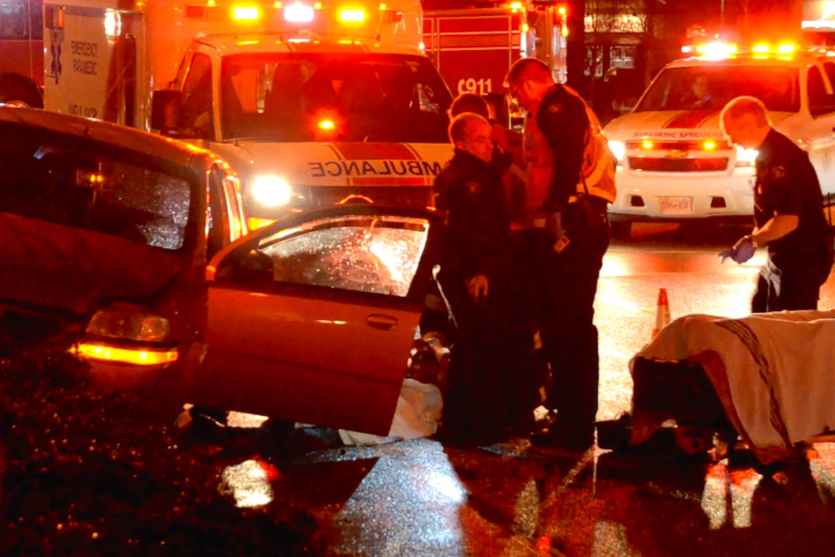 FILE PHOTO: A drug overdose may have caused a multi-vehicle crash in Langley. Curtis Kreklau South Fraser News Services