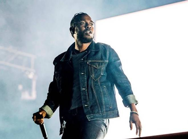 FILE - In this July 7, 2017, file photo, Kendrick Lamar performs during the Festival d'ete de Quebec in Quebec City, Canada. (Photo by Amy Harris/Invision/AP, File)