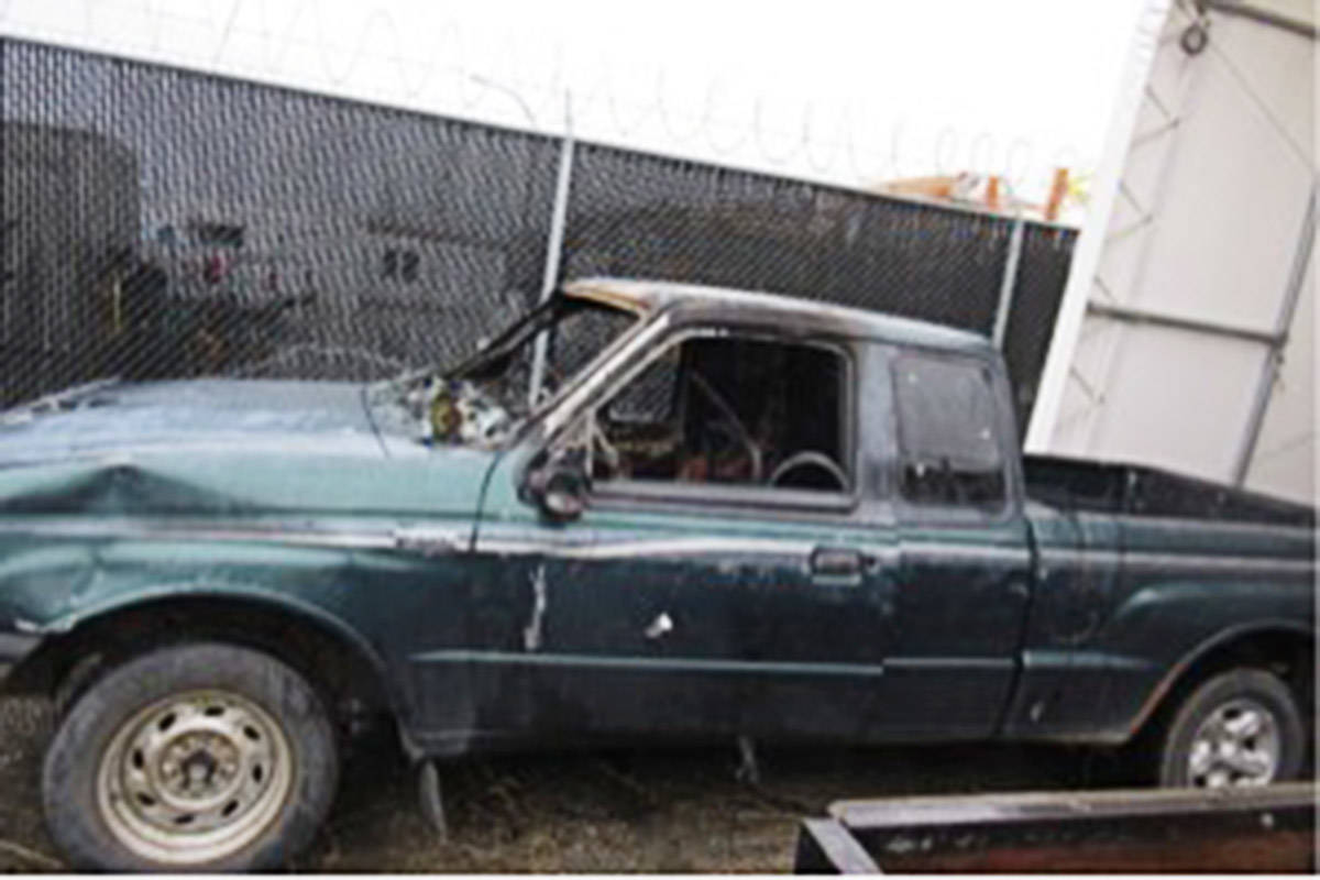 This truck was involved in multiple hit and runs on Dec. 19, striking and injuring seven people and killing a dog.