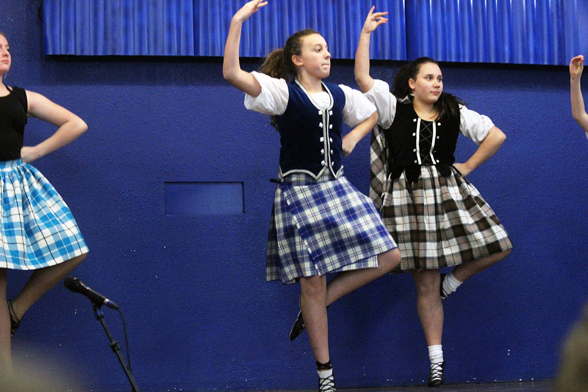 Shelley Cassidy Highland Dancers perform the Highland Fling. (Photo by Don Bodger)