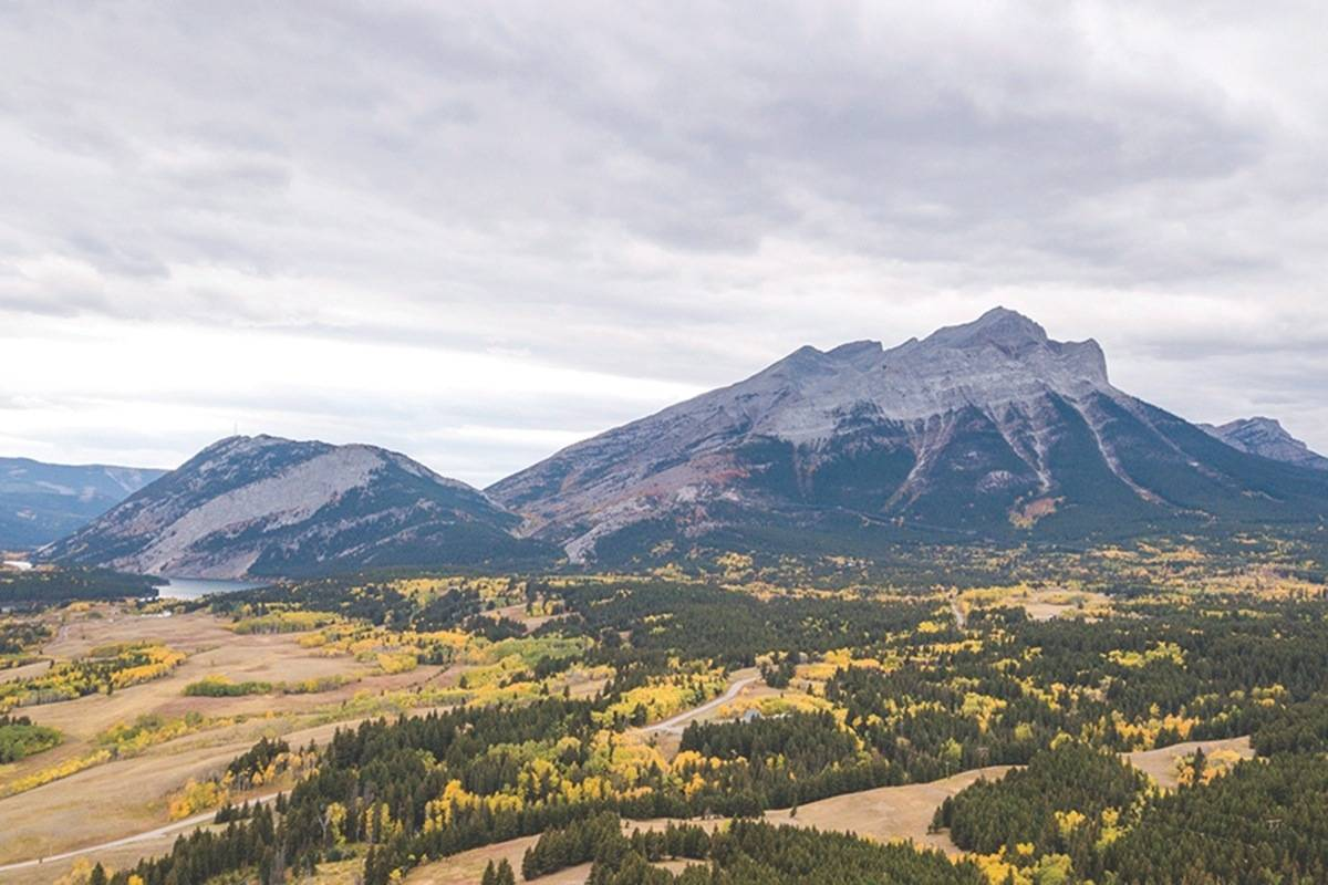 The western portion of a wildlife corridor near Crowsnest Pass at the B.C/-Alberta border is seen on Wednesday, Sept. 26, 2018 in this handout photo. (Brent Calver, Nature Conservancy of Canada)