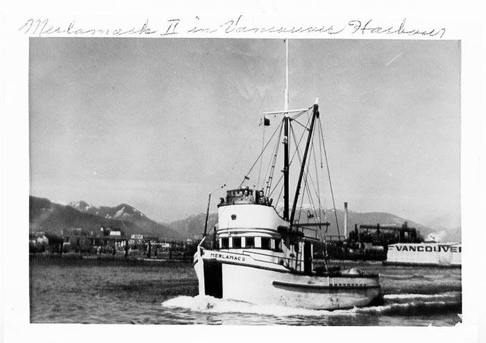 The Merlamac II in Vancouver Harbour.  (Photo submitted)