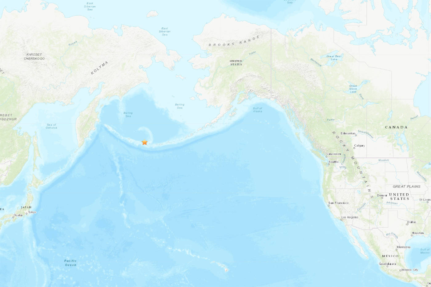 The strong 6.5 magnitude earthquake occurred in the Rat Islands of the western Aleutians at 1:35 p.m. (earthquake.usgs.gov)