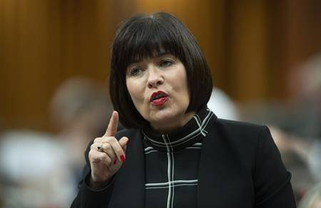 Federal Health Minister Ginette Petitpas Taylor responds to a question during Question Period in the House of Commons, Monday June 17, 2019 in Ottawa. (THE CANADIAN PRESS/Adrian Wyld)