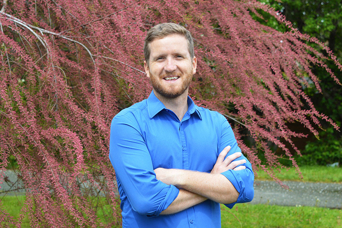 Adam Sherk, UVic post-doctoral fellow at the Canadian Institute for Substance Use Research, studied the caloric intake from alcohol. (Photo by Jonathan Woods)