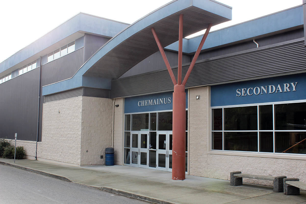 Chemainus Secondary School is now where Grade 7 students from Chemainus and Crofton are attending school. (Photo by Don Bodger)