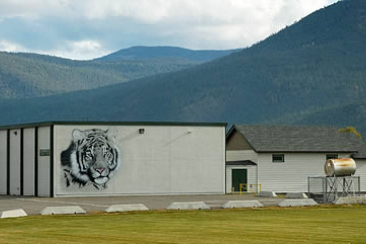 Westwold elementary, located 45 minutes east of Kamloops. (SD73 photo)