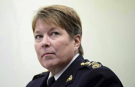 FILE - RCMP Commissioner Brenda Lucki appears at a House of Commons Standing Committee on Public Safety and National Security in Ottawa on May 7, 2018. (THE CANADIAN PRESS/Sean Kilpatrick)