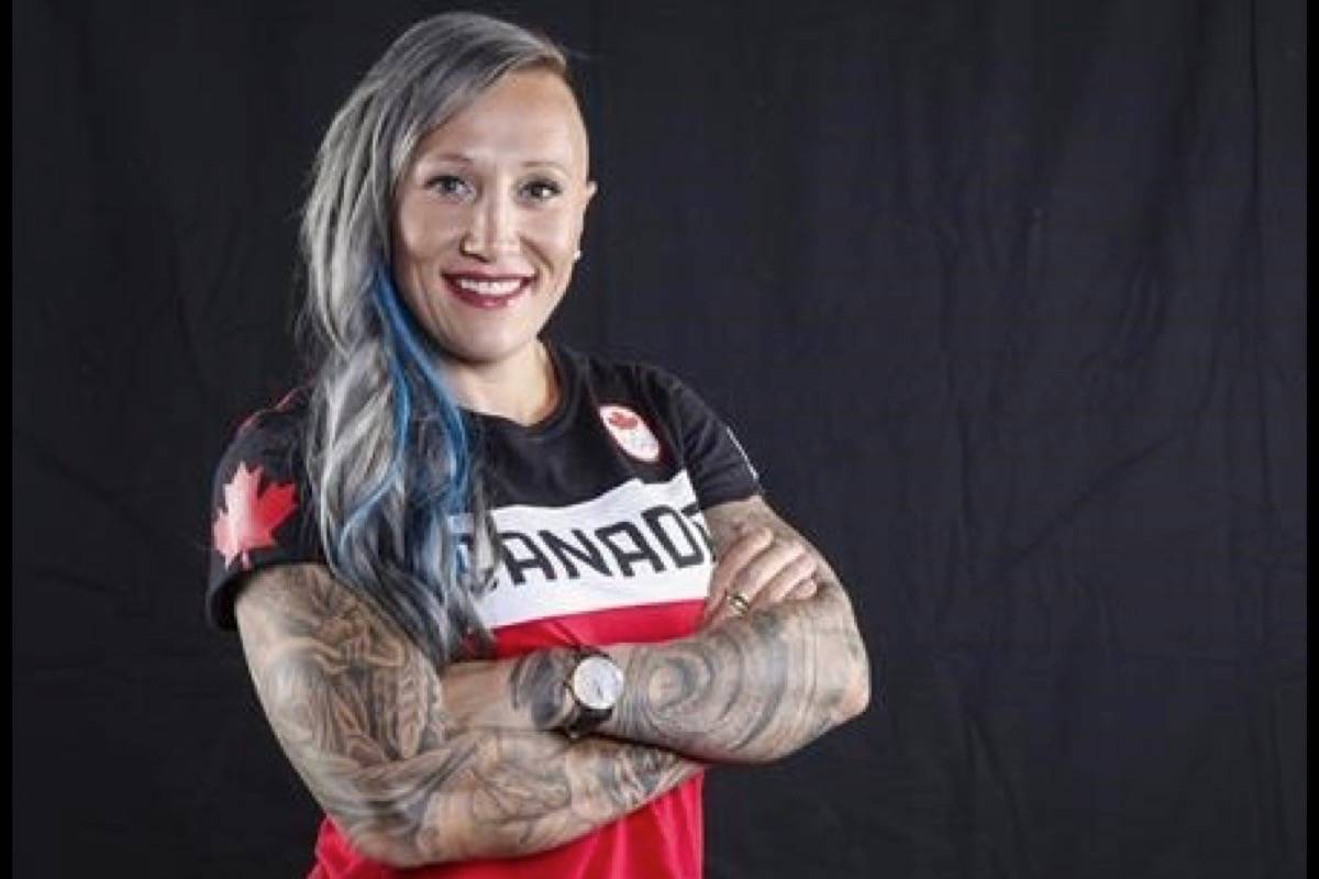 FILE - Canadian Olympic athlete Kaillie Humphries poses for a photo at the Olympic Summit in Calgary in 2017. (THE CANADIAN PRESS/Jeff McIntosh)