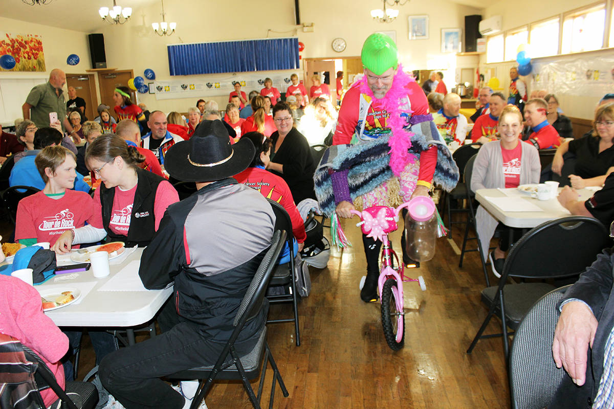 There's sure to be lots of shenanigans during the Tour de Rock breakfast at the Chemainus Legion Hall Tuesday. (Photo by Don Bodger)