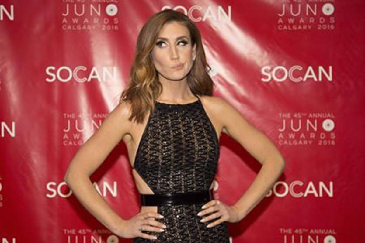 Jessi Cruickshank arrives at the JUNO Gala dinner in Calgary, Saturday, April 2, 2016. Liberal Leader Justin Trudeau will appear on Canadian entertainment personality Jessi Cruickshank's Facebook Watch show on Wednesday. THE CANADIAN PRESS/Jeff McIntosh