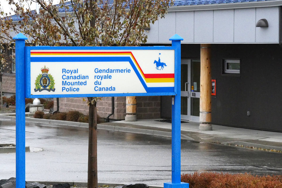 The RCMP station in 100 Mile House. File photo.