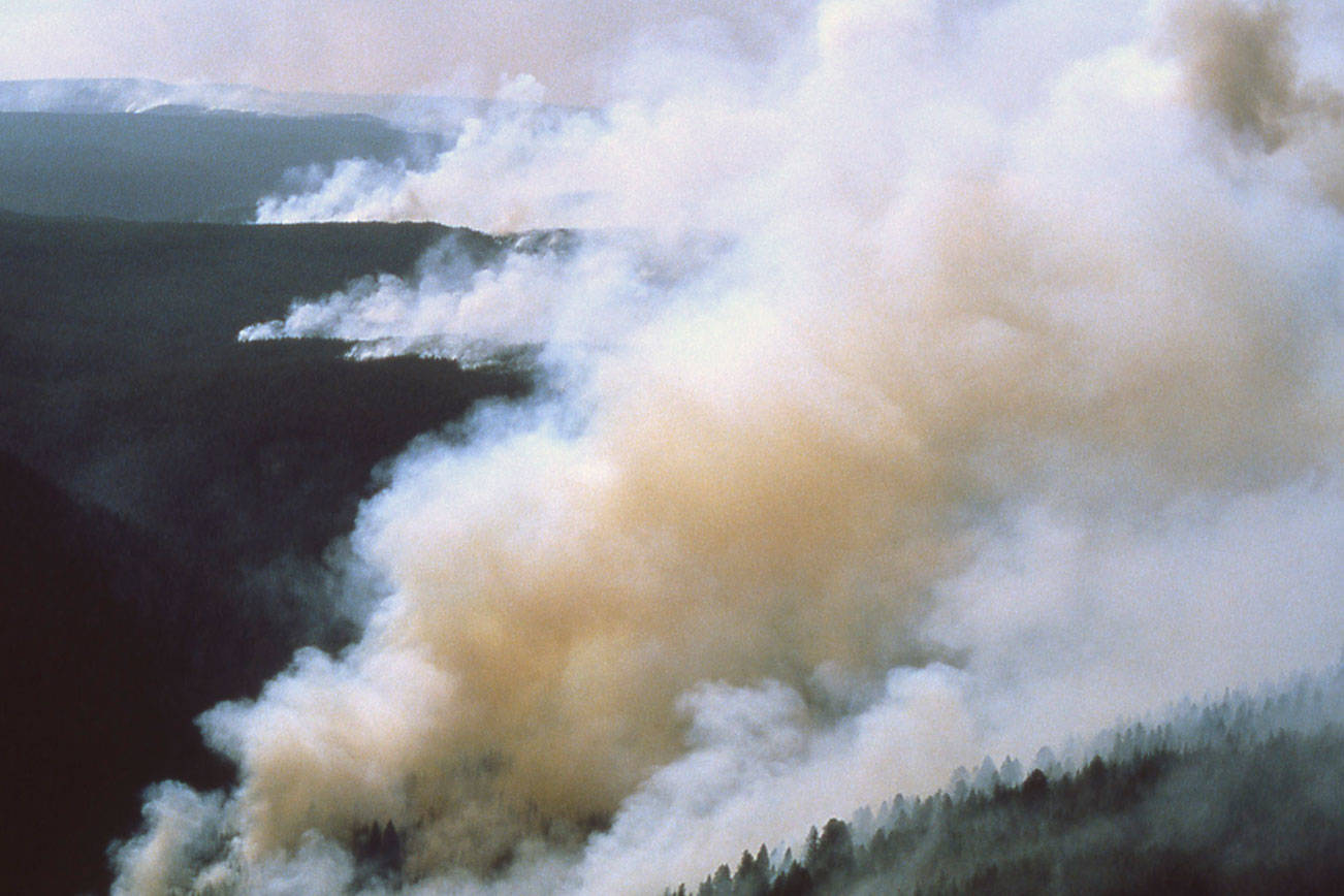 File photo of a B.C. Wildfire