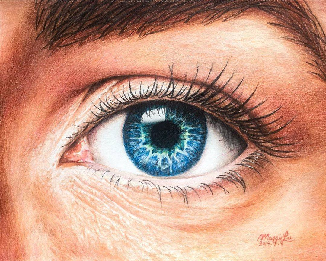 Window to the Soul is a colour pencil work by Maggie Lu, who also enjoys painting with watercolours. Contributed photo