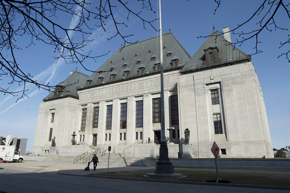 The Supreme Court of Canada is seen Friday April 25, 2014 in Ottawa. (Adrian Wyld/The Canadian Press)