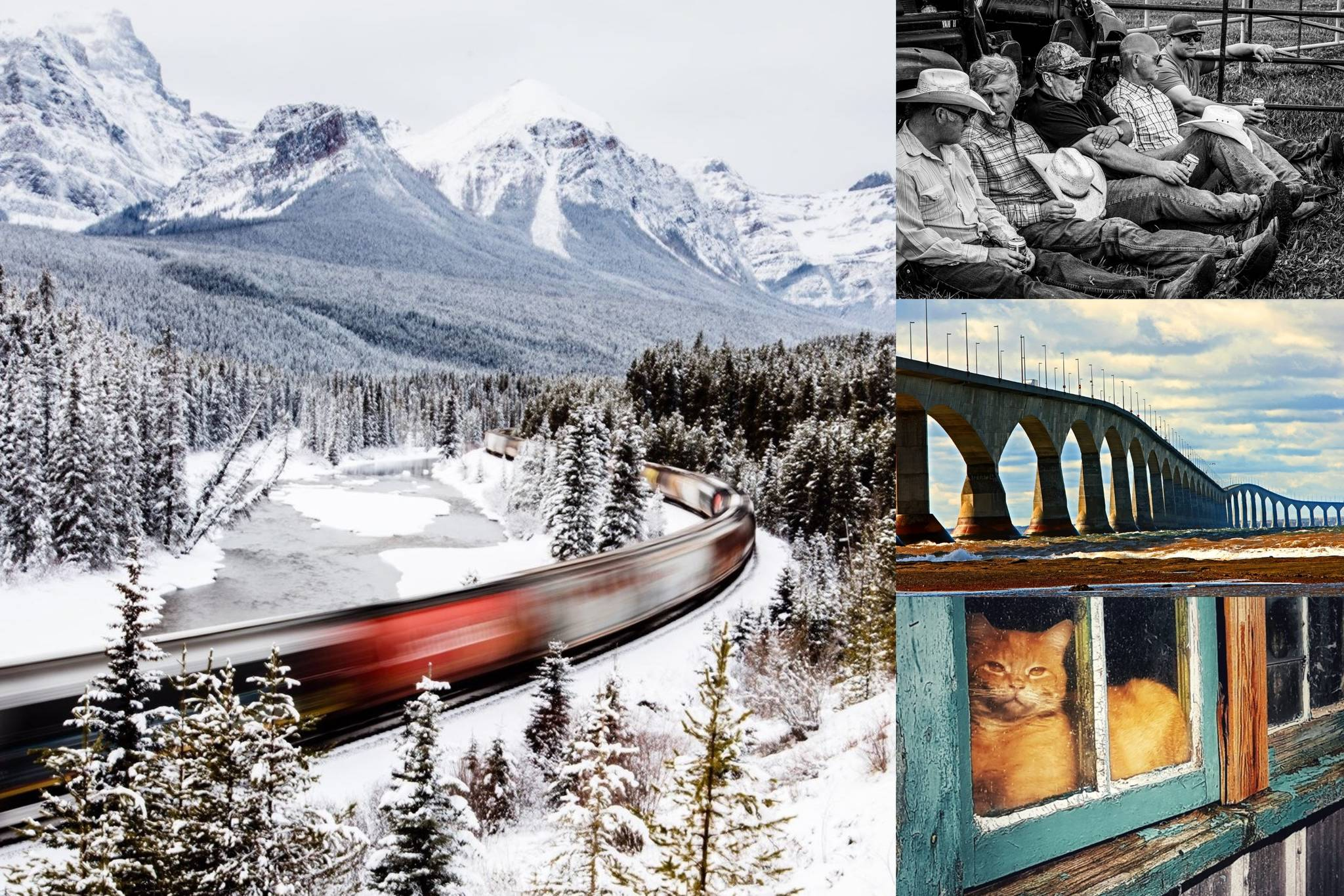 The grand prize winner is Lori Kupsch from Red Deer, Alta., with her photo Morant's Curve. She captured the Canadian Pacific Holiday Train passing through Banff's majestic peaks (Submitted photos)