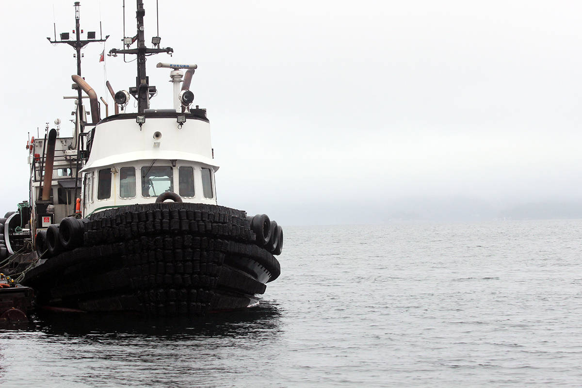 A Jones Marine tug in Chemainus Harbour. (Photo by Don Bodger)