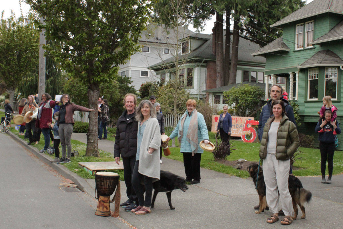 Chamberlain Street residents have created a new, nightly singalong tradition to remain connected during the pandemic while practising social distancing. (Devon Bidal/News Staff)