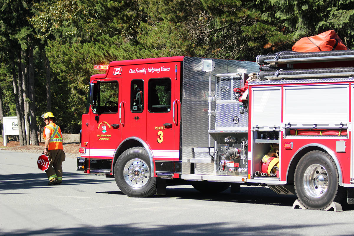 Chemainus Fire Department on the scene. (Photo by Don Bodger)