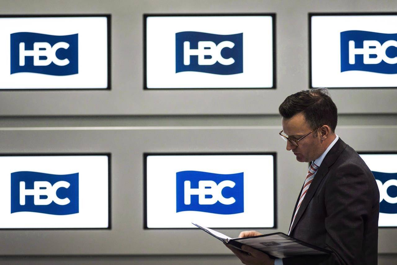Hudson's Bay Co. holds its annual meeting of shareholders in Toronto on June 3, 2016. Two landlords of the Hudson's Bay Co. are suing the retailer for unpaid rent, alleging the iconic department store that anchors shopping malls across Canada hasn't paid its bills at multiple locations since April. THE CANADIAN PRESS/Christopher Katsarov
