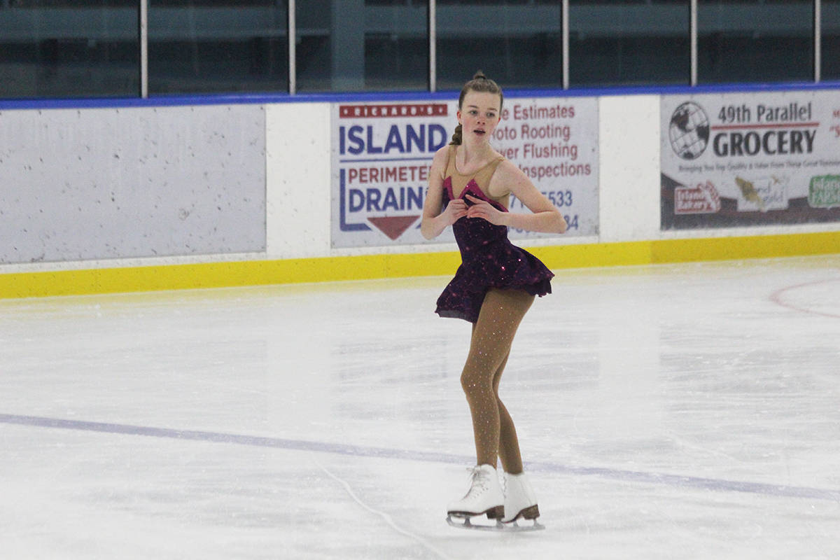 Poise and confidence are a big part of Leah Brown's skating. She's been a late starter compared to many girls, but gaining fast on that time lapse. (Photo by Don Bodger)