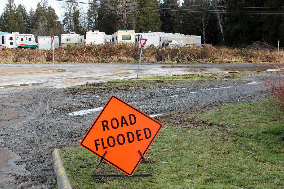Keep an eye on the situation in the next few days on Chemainus Road and Crofton Road, through Westholme, the Halalt First Nation and Pinson's Corner for flooding. Heavy rains made part of the area impassable on the weekend. The water has subsided somewhat, but with rain in the forecast right through the week with only short breaks, the water level will surely rise again. This spot always floods with minimal amounts of rain so it's bound to peak if we get any more downpours. Use an alternate route, if possible, around Chemainus and Crofton and don't take any unnecessary chances. (File photo by Don Bodger)