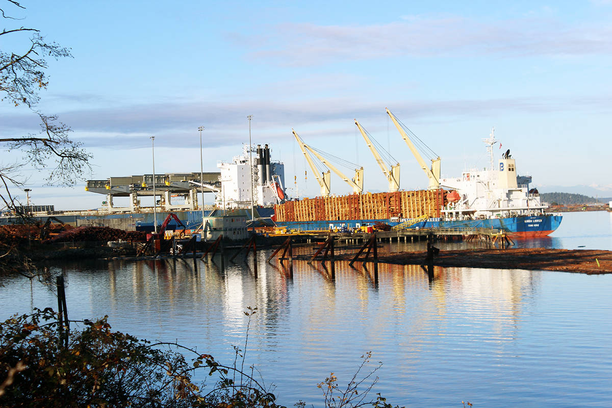 Ships docked in Crofton during a rare beautiful day in December. (Photo by Don Bodger)
