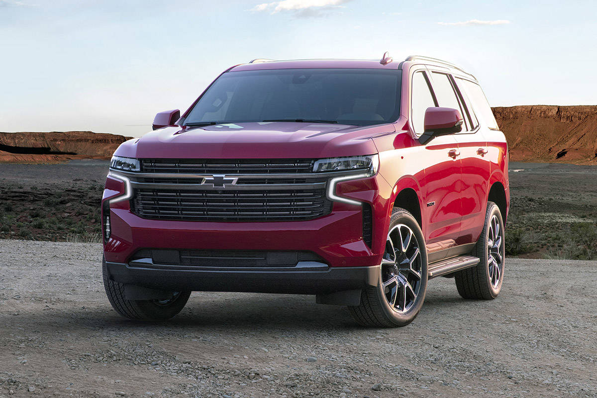A large, square vehicle that's artful and elegant? Loaded up, the Tahoe could actually be an understated alternative to the Cadillac Escalade. PHOTO: CHEVROLET