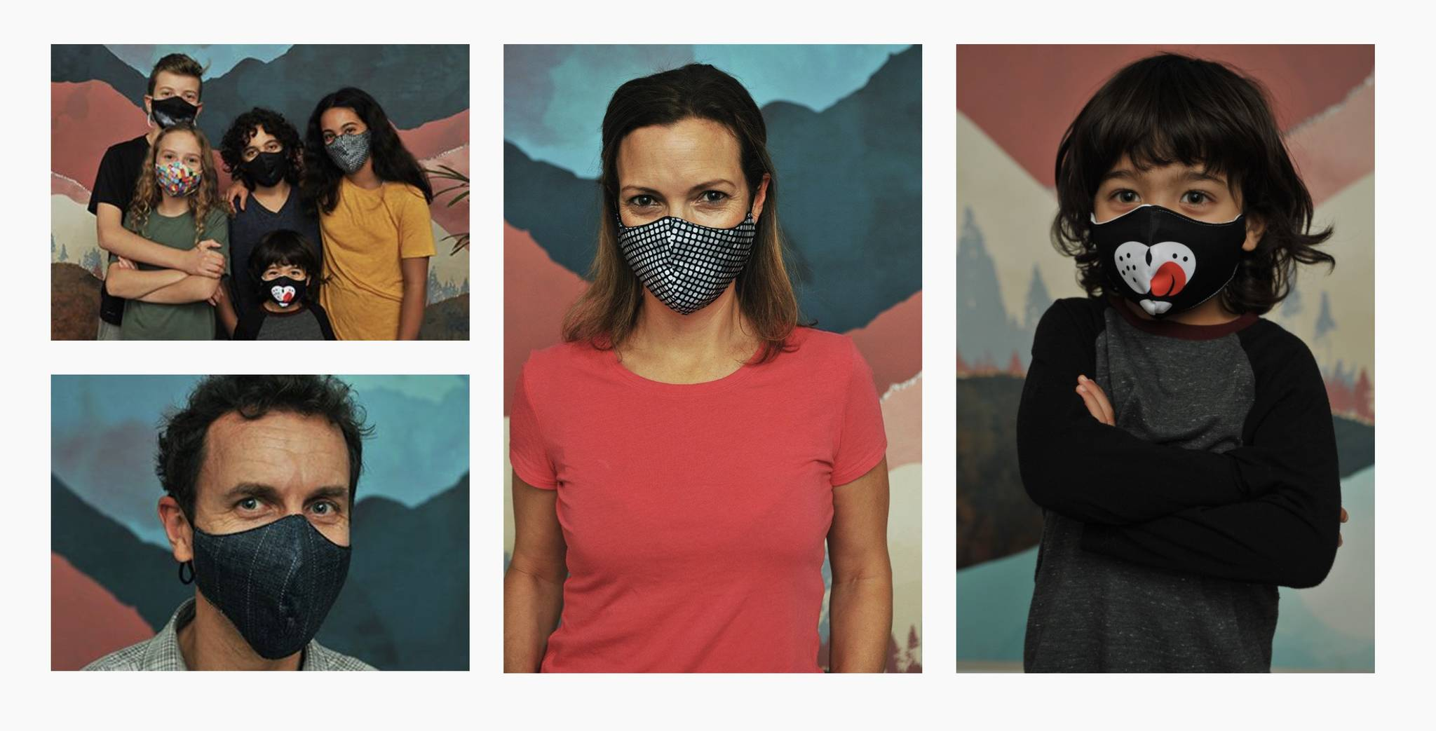 BraveFace masks and face coverings are made in Canada from Canadian milled Certified 100% organic cotton and recycled polyester. Photo by BraveFace.
