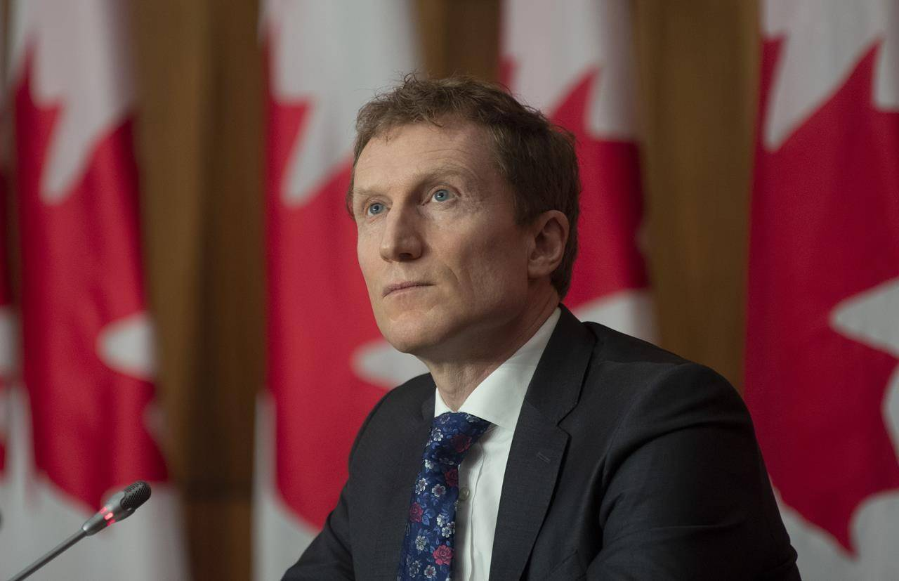 Indigenous Services Minister Marc Miller pauses before responding to a question during a news conference in Ottawa on Feb. 10, 2021. THE CANADIAN PRESS/Adrian Wyld