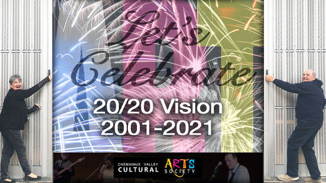 Chemainus Valley Cultural Arts Society President Bev Knight and member Bob Johns are looking forward to bringing another season of arts to the community in 2021, the society's 20th anniversary year. (Photo illustration by Craig Spence)