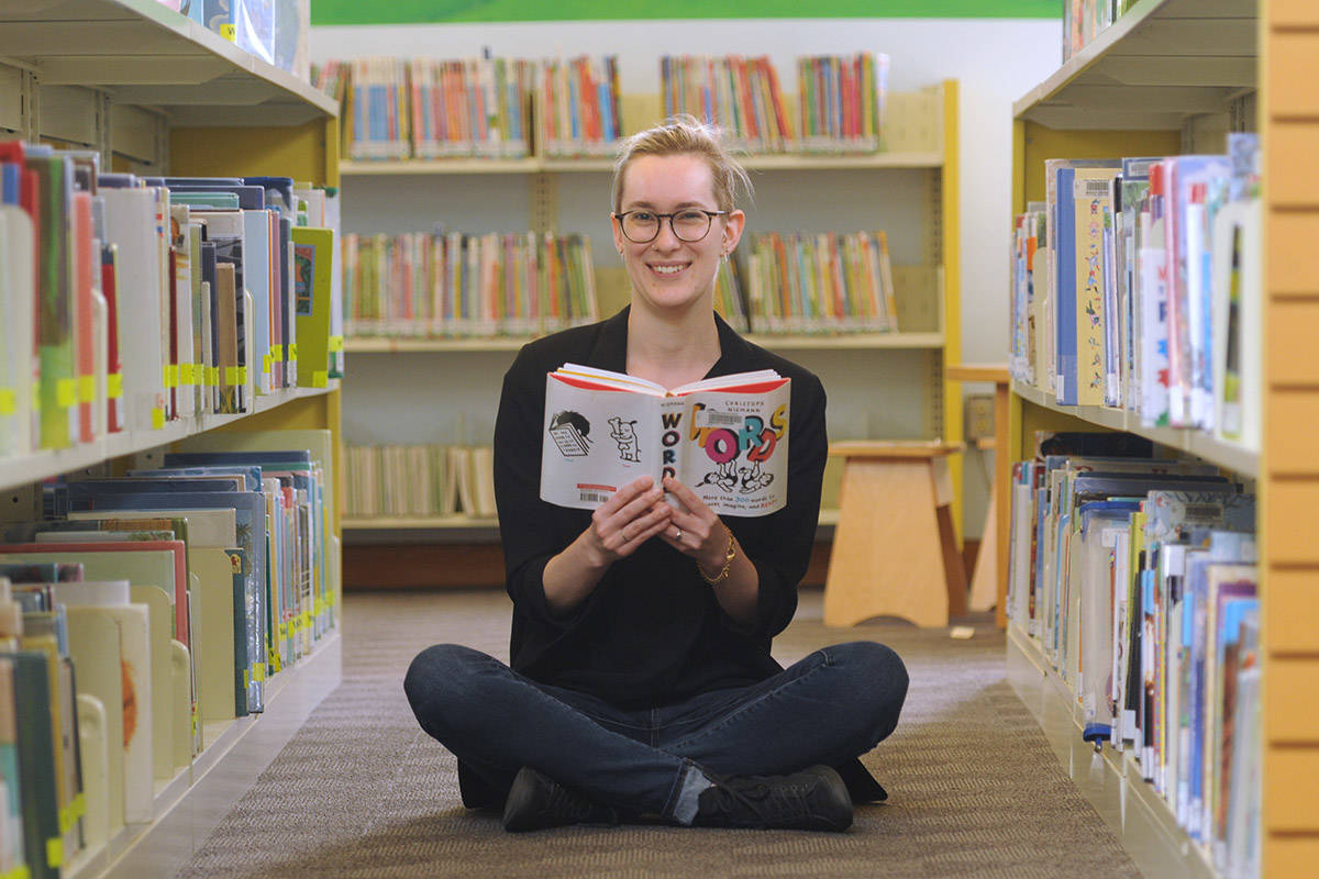 Librarian Katie Burns with the Fraser Valley Regional Libraries poses for a photo in Chilliwack on June 18, 2019. Monday, April 12, 2021 is Library Workers' Day. (Jenna Hauck/ Chilliwack Progress file)