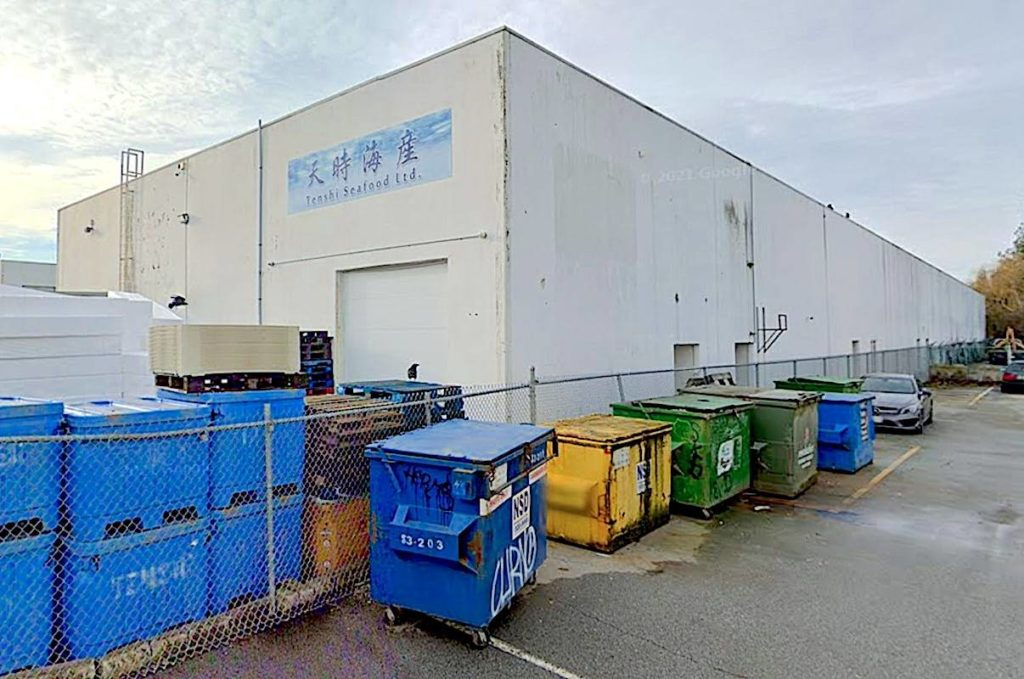Tenshi Seafood Ltd., which owns a seafood processing plant based out of Richmond, has been fined for obstructing a routine DFO inspection. (Google Maps)
